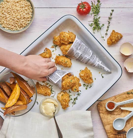 Oven Baked Chicken Nuggets Recipe by Annabel Karmel