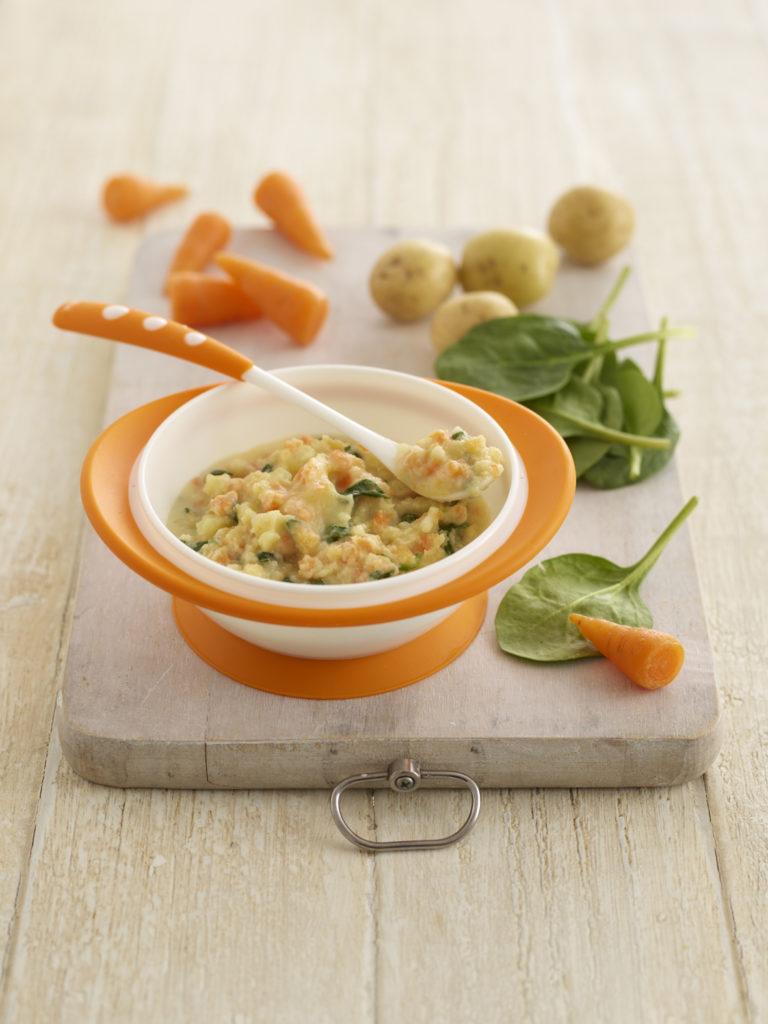 Spinach, Potato, Carrot & Cheddar Mash recipe by Annabel Karmel