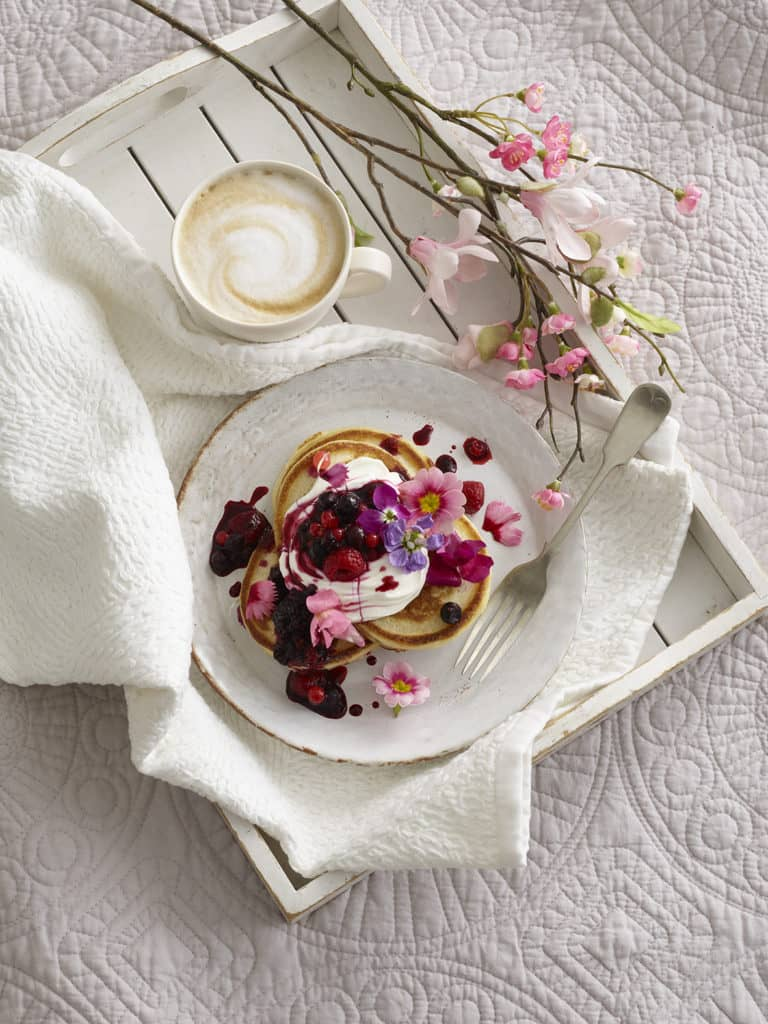 Buttermilk Pancakes with Berry Compote Recipe by Annabel Karmel