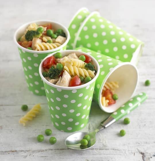 Turkey, Broccoli, Pea and Tomato Pasta Salad Recipe by Annabel Karmel