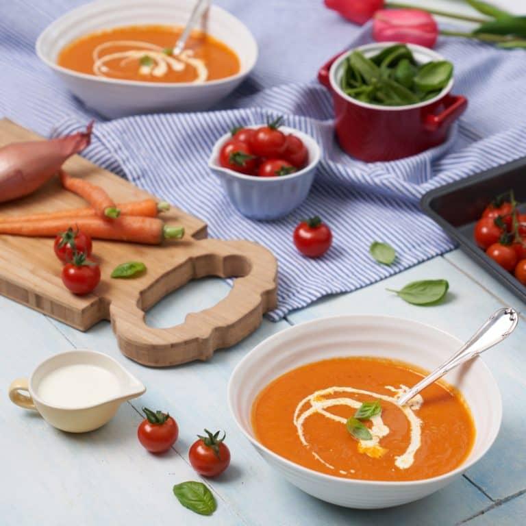 Roasted Cherry Tomato Soup Recipe by Annabel Karmel
