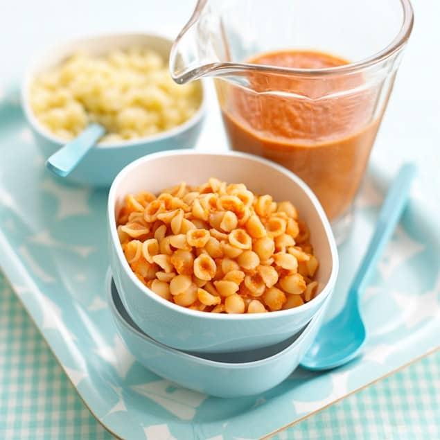 Pasta Shells with Tomato & Mascarpone Sauce recipe by Annabel Karmel