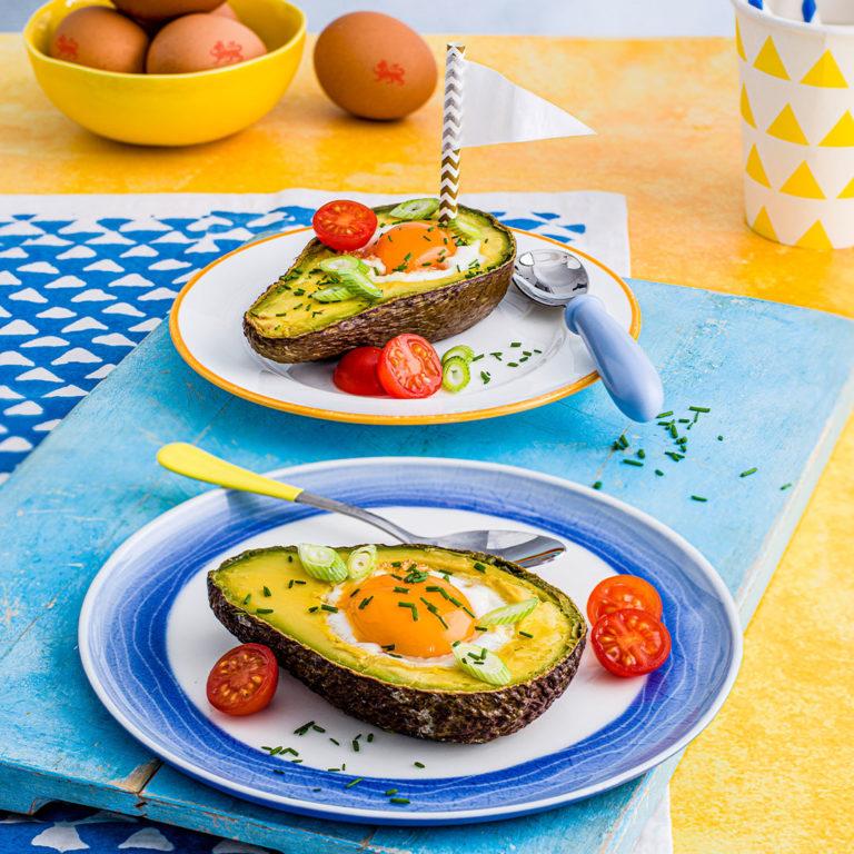 Baked Egg & Avocado Boats recipe by Annabel Karmel