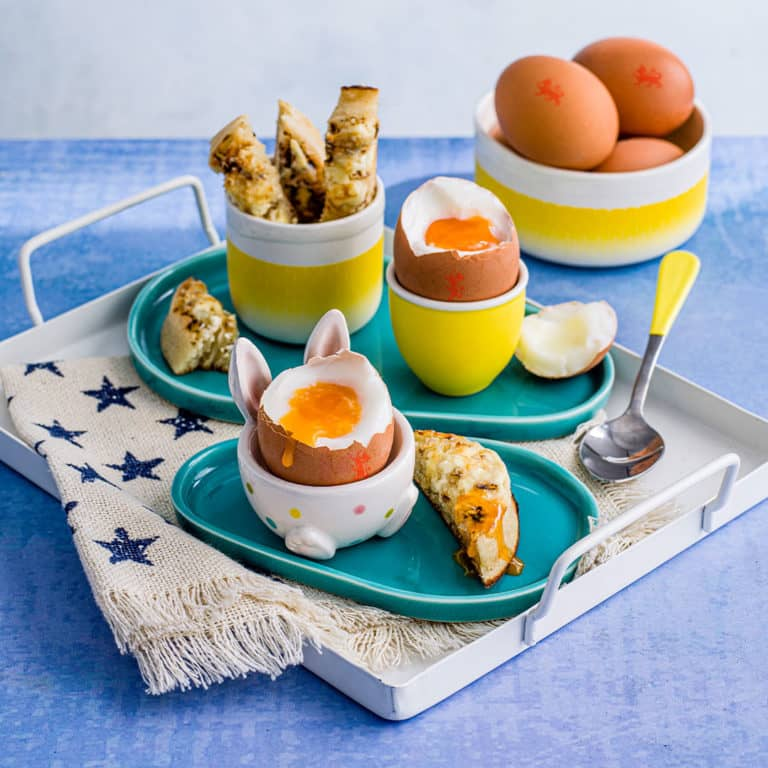 Dippy Eggs with Crumpet Fingers recipe by Annabel Karmel
