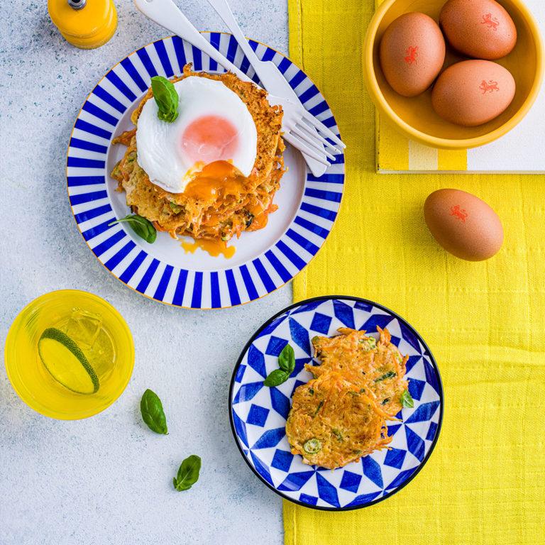 Sweet Potato & Carrot Rostis recipe by Annabel Karmel