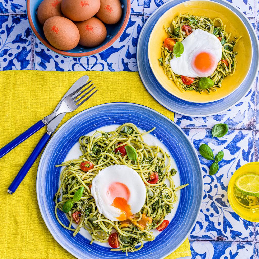 Easy Peasy Poached Egg Spaghetti recipe by Annabel Karmel