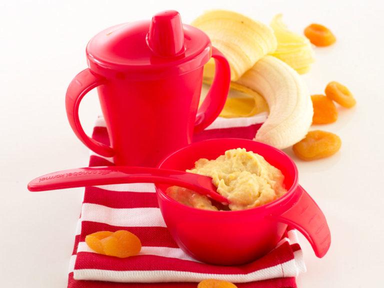Baby Yoghurt with Apricot & Banana recipe by Annabel Karmel