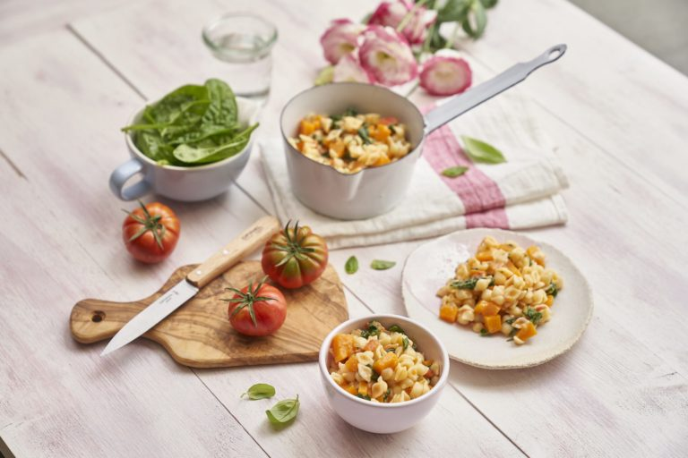 Roasted Vegetables with Baby Pasta Shells Recipe by Annabel Karmel
