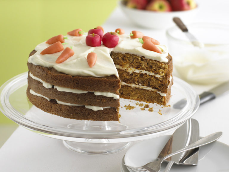 Carrot & Apple Cake with Cream Cheese Icing recipe by Annabel Karmel