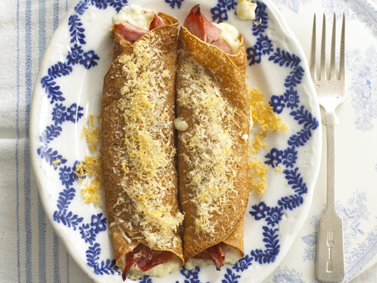 Cheese & Ham Crepes recipe by Annabel Karmel