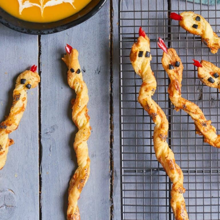 Cheese Straw Snakes recipe by Annabel Karmel