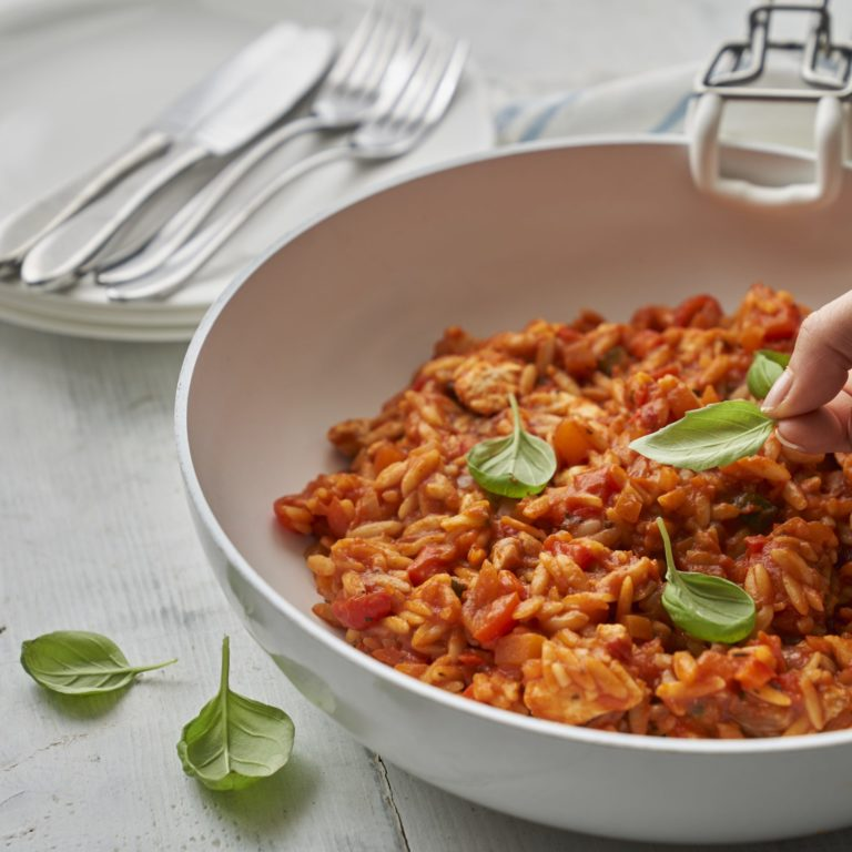 Annabel's One Pot Chicken & Tomato Orzo Recipe by Annabel Karmel
