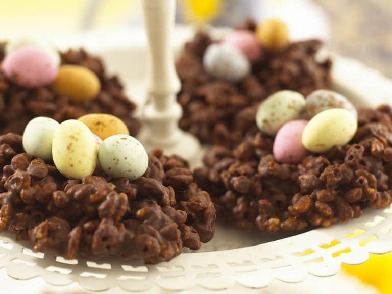 Chocolate Egg Nests recipe by Annabel Karmel