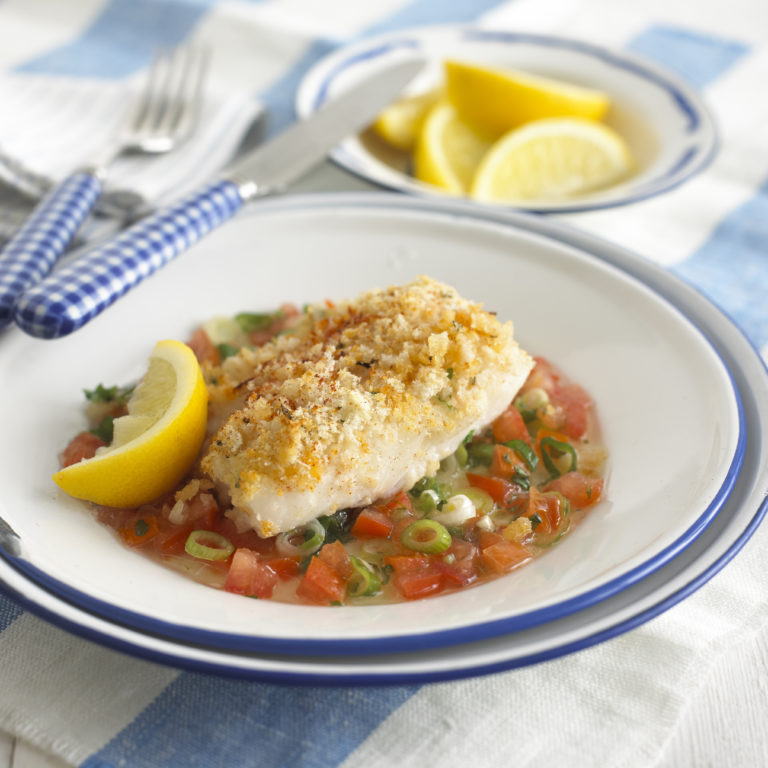 Cod Fillets with Tomato Salsa recipe by Annabel Karmel