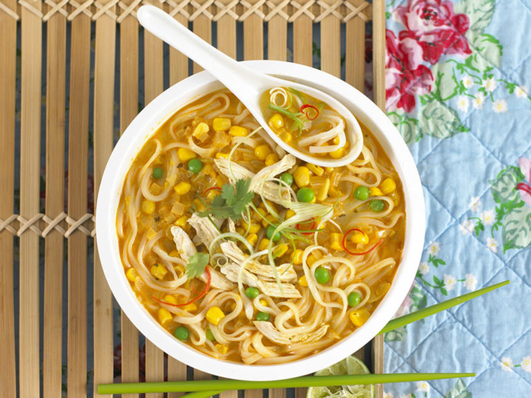 Thai Corn & Chicken Laksa recipe by Annabel Karmel