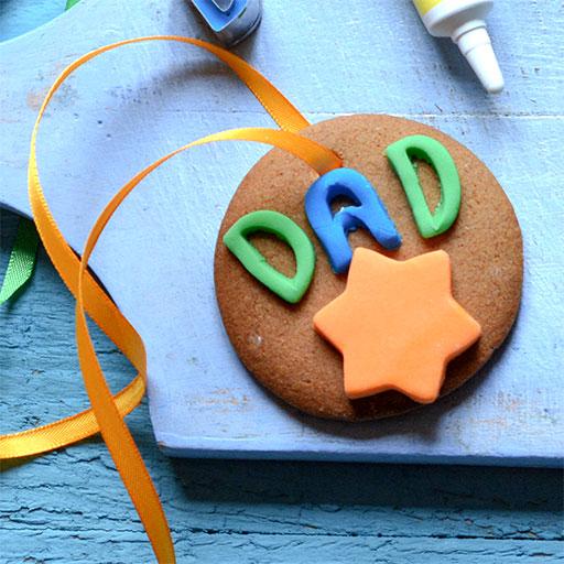 Dads Gingerbread Medal Cookies