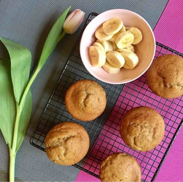 Dairy-free Banana and Peanut Butter Muffins recipe by Annabel Karmel