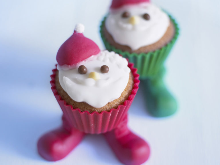 Father Christmas Cupcakes recipe by Annabel Karmel