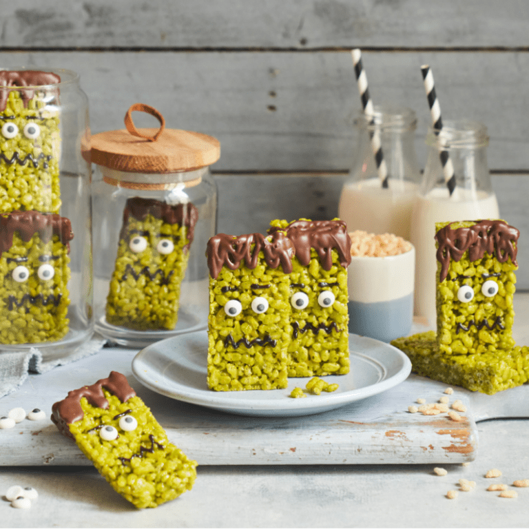Halloween Frankenstein Krispies recipe by Annabel Karmel