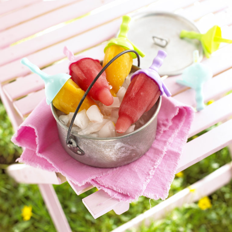 Peach & Passion Fruit Ice Lollies Recipe by Annabel Karmel