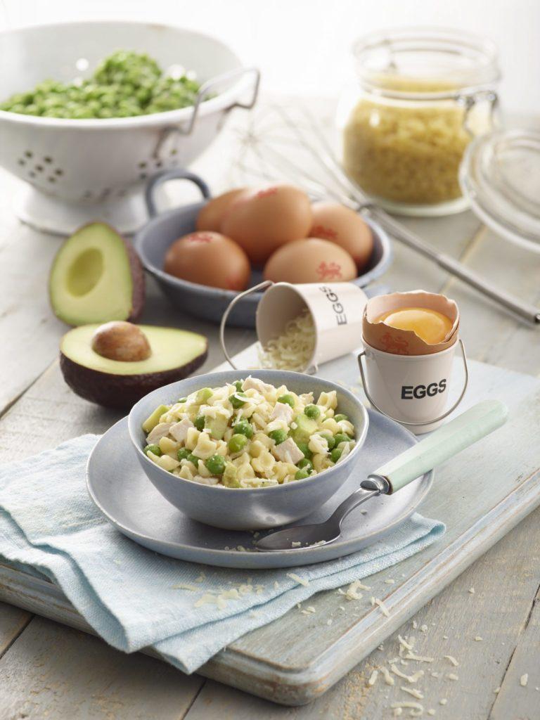 Baby Chicken & Pea Carbonara Recipe by Annabel Karmel