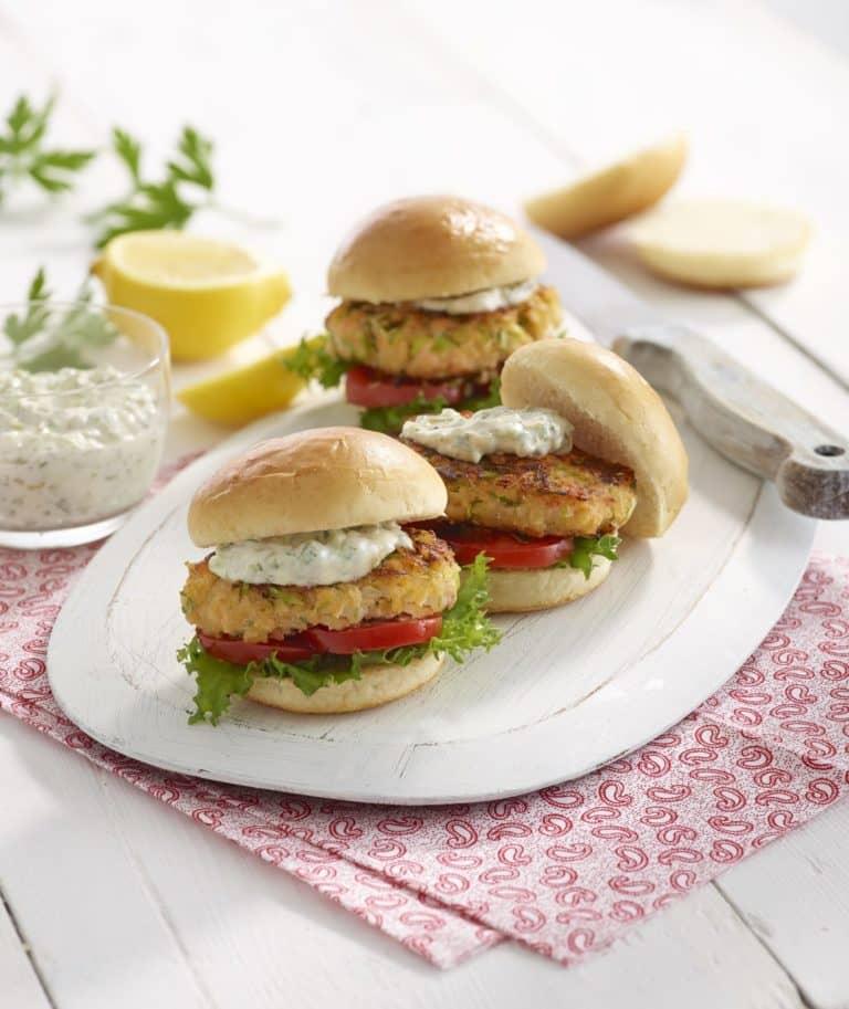 Salmon & Cod Burgers recipe by Annabel Karmel