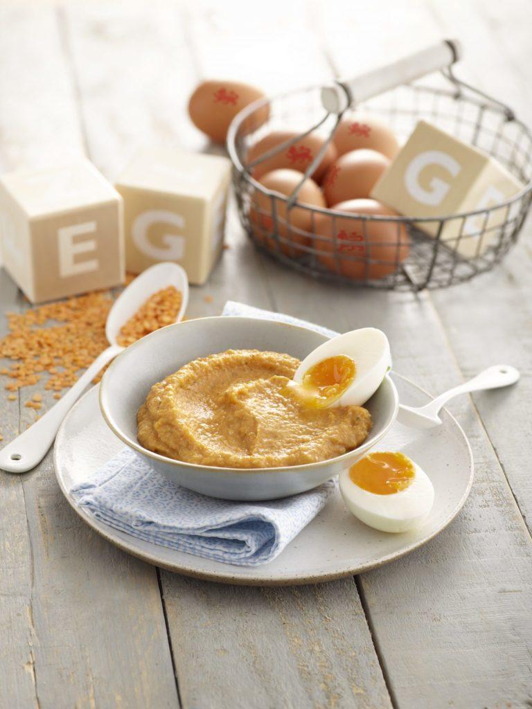 Lovely Lentil & Egg Puree recipe by Annabel Karmel