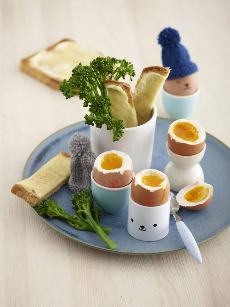Boiled Egg with Broccoli & Cheese Soldiers recipe by Annabel Karmel