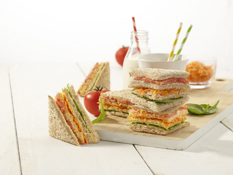 Traffic Light Sandwich Stacks Recipe by Annabel Karmel