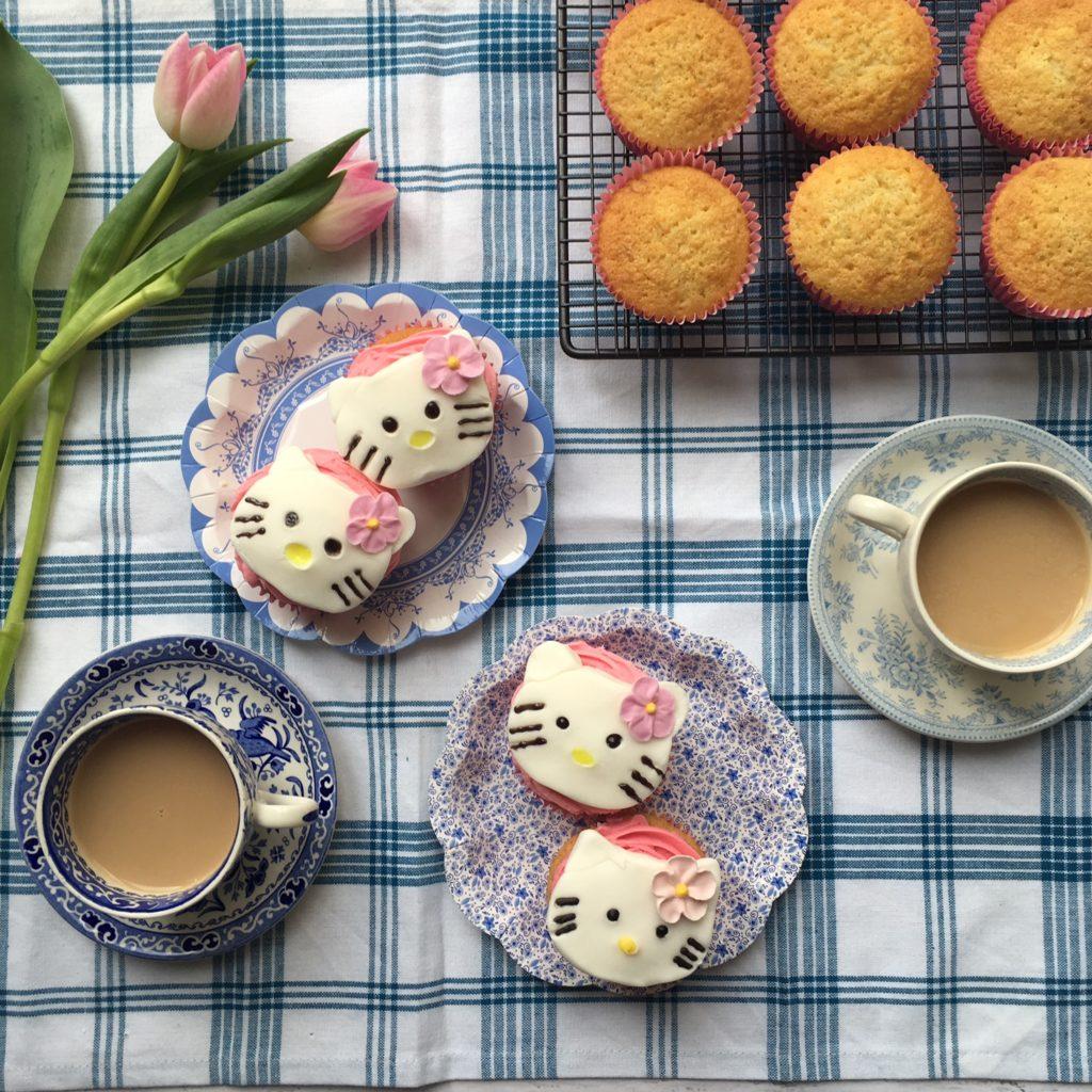 Hello Kitty Cupcakes recipe by Annabel Karmel