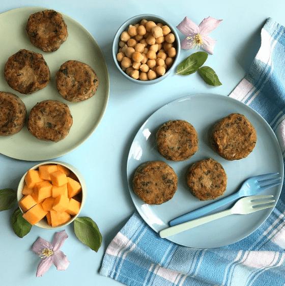 Tasty Sweet Potato, Spinach & Chickpea Patties recipe by Annabel Karmel