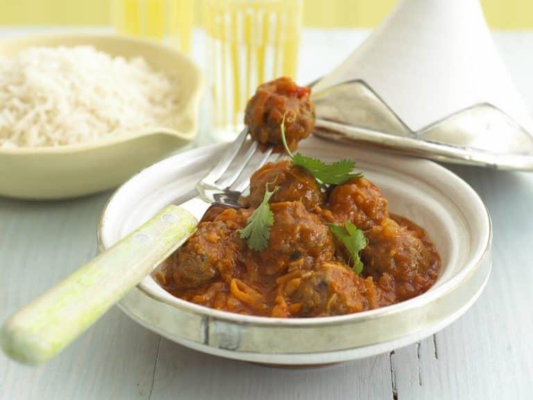 Tagine Recipe with Pork & Beef Meatballs recipe by Annabel Karmel