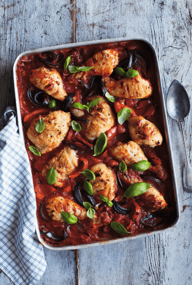 Mediterranean Oven-Baked Chicken Drumsticks recipe by Annabel Karmel