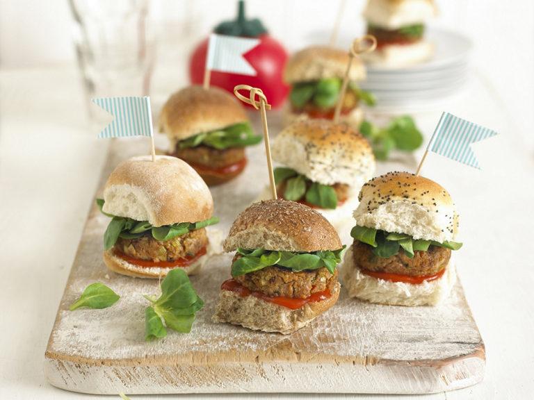 Mini Chicken Burgers recipe by Annabel Karmel