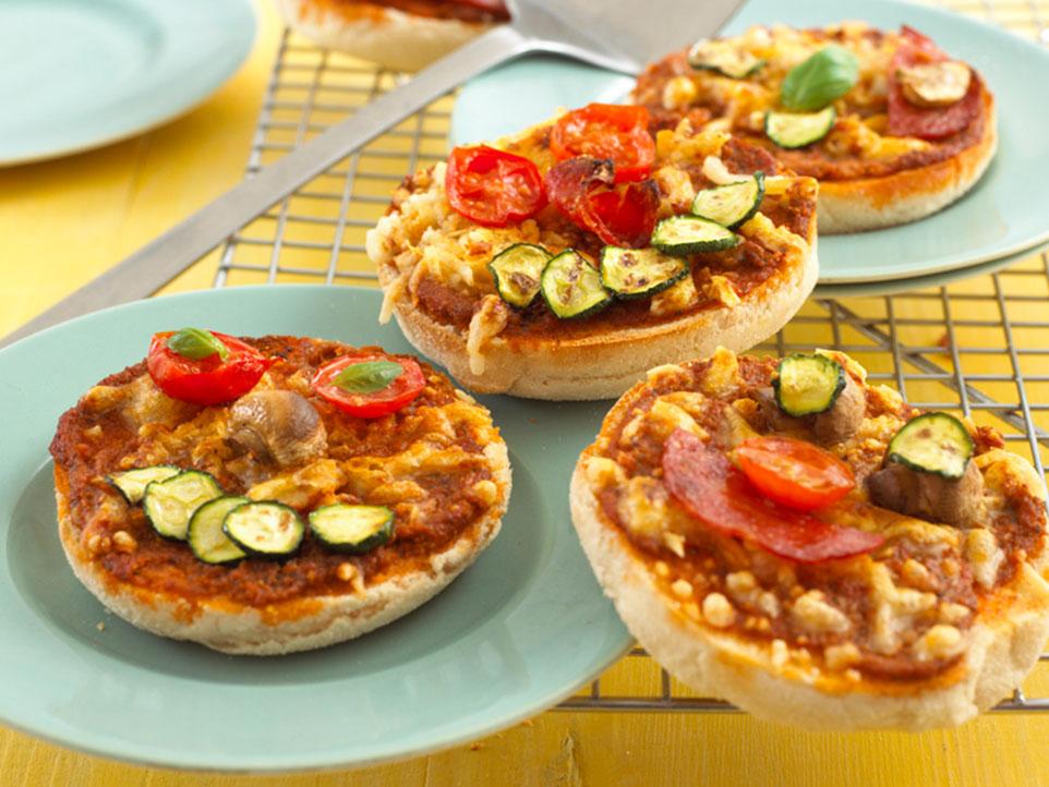 Mini Muffin Pizzas recipe by Annabel Karmel