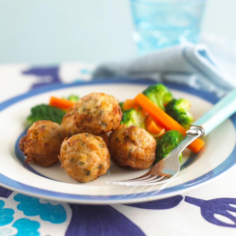 Mini Chicken Balls recipe by Annabel Karmel