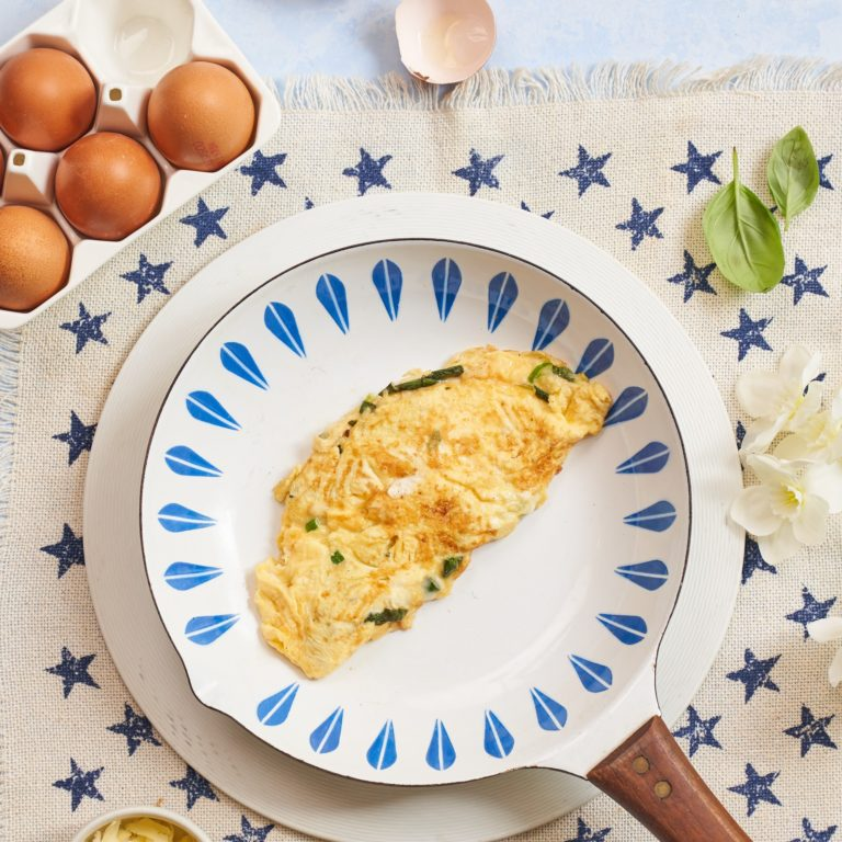 cheese and chive omelette recipe by Annabel Karmel