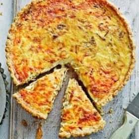 Onion & Gruyere Tart recipe by Annabel Karmel