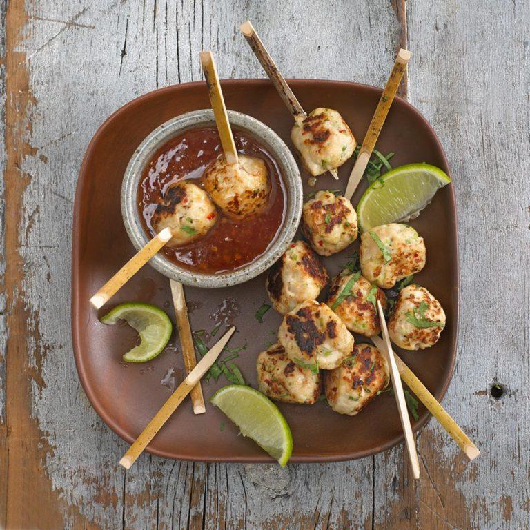 Oriental Chicken Balls recipe by Annabel Karmel