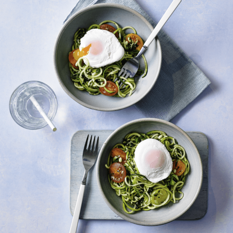 Poached Egg Courgetti Recipe by Annabel Karmel