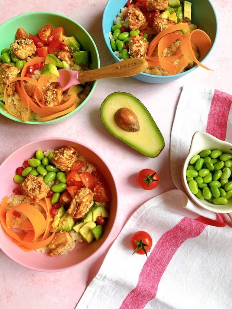 Teriyaki Salmon Poke Bowl Recipe by Annabel Karmel