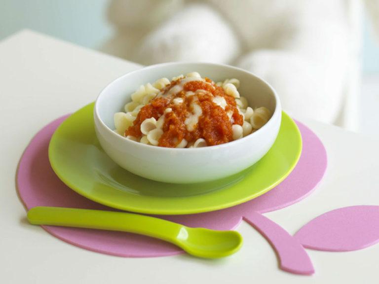 Pasta with Tomato, Sweet Potato & Cheese recipe by Annabel Karmel