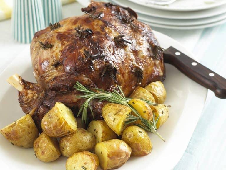 Leg of Lamb with Rosemary Roast Potatoes recipe by Annabel Karmel