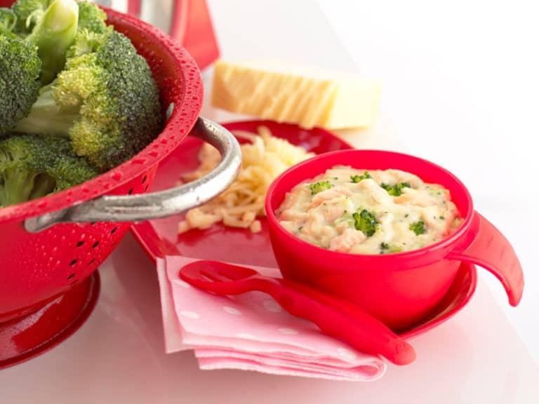 Salmon, Broccoli & Cheese Sauce recipe by Annabel Karmel