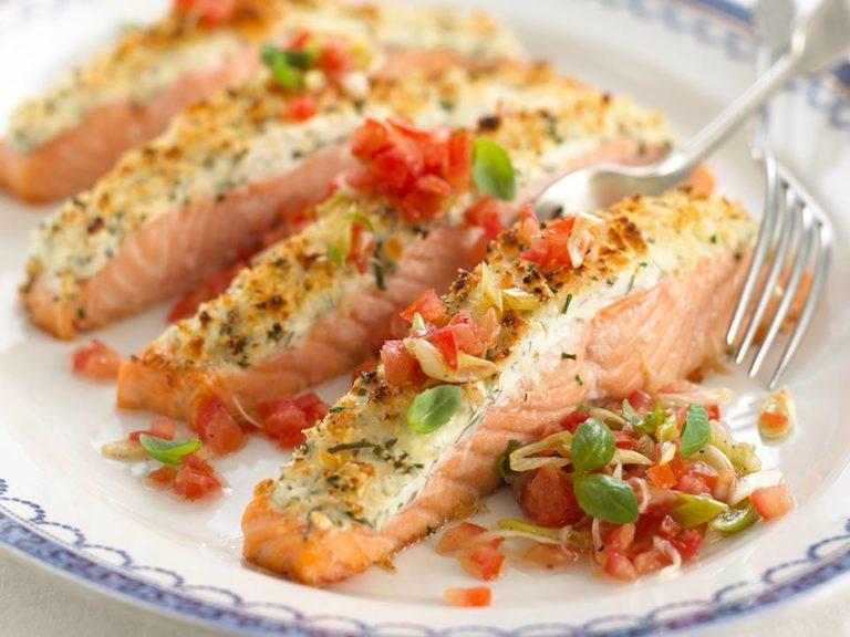 Salmon with Tomato Salsa recipe by Annabel Karmel