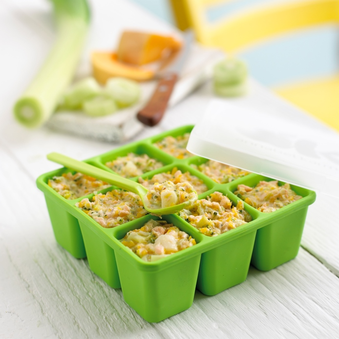 Salmon, Broccoli & Spinach Puree recipe by Annabel Karmel
