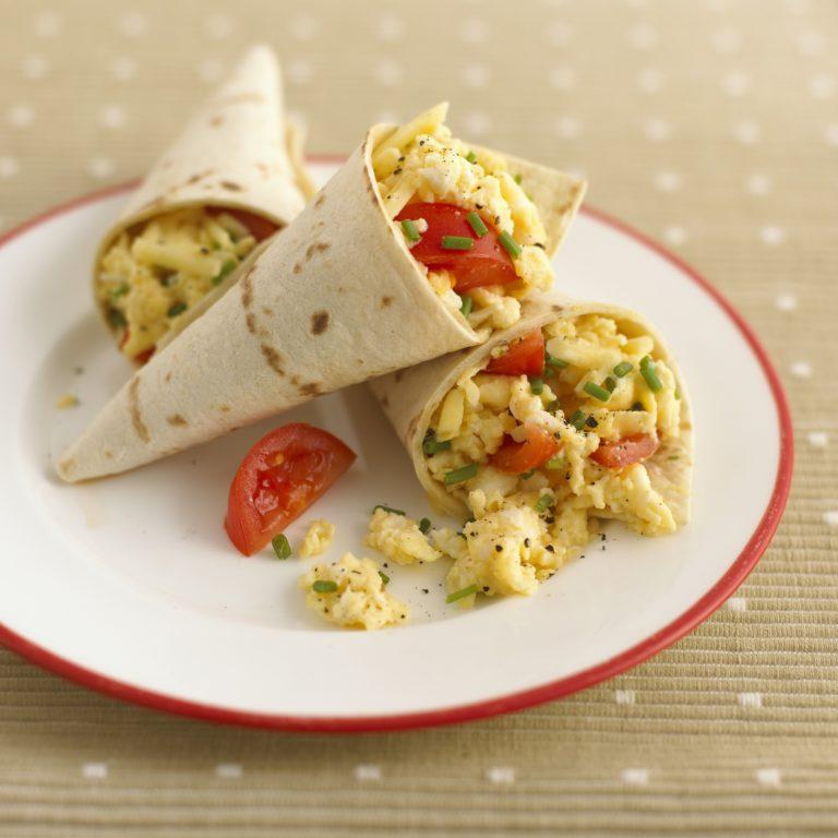 Scrambled-Egg Tortilla Wrap Recipe by Annabel Karmel