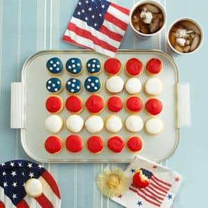 Stars and Stripes Mini Cupcakes recipe by Annabel Karmel
