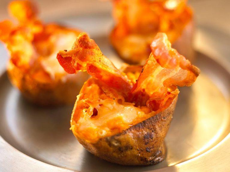 Stuffed Sweet Potatoes with Bacon Annabel Karmel