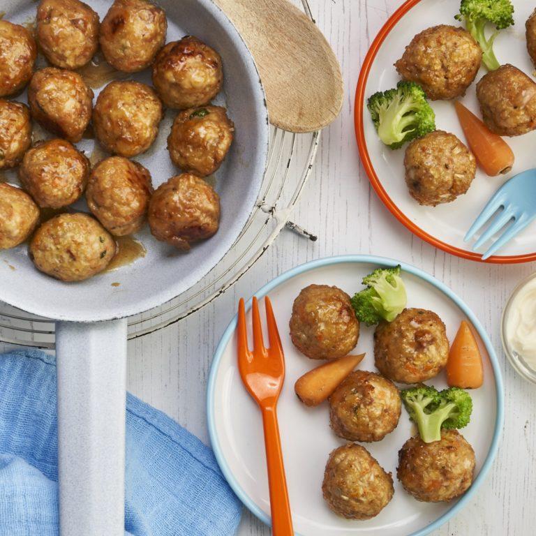 Teriyaki Chicken Balls Recipe by Annabel Karmel